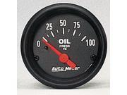 Auto Meter Z-Series Electric Oil Pressure Gauge