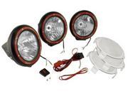 Rugged Ridge 15205.64 5-Inch Round HID Off Road Light Kit, Black Composite Housing