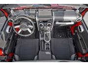 Rugged Ridge 11151.97 Interior Trim Kit, Brushed Silver, 07-10 Jeep Wrangler Unlimited JK