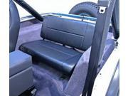 Rugged Ridge 13461.01 Fixed Rear Seat, Black, 55-95 Jeep CJ And Wrangler
