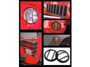 Rugged Ridge 12496.05 Euro Guard Kit Head/Side/Fog/Tail Light Gd