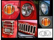 Rugged Ridge 12496.10 19-Piece Euro Guard Light Kit, Stainless, 07-14 Jeep Wrangler