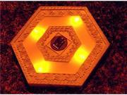 Homebrite Polyresin Garden Landscape Solar Lighted Stepping Stones, 30841, Hexagon, Set of 3, White