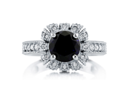 Royal Crown Style Sapphire CZ 925 Silver Solitaire Ring 2.04 Ct Women's Jewelry