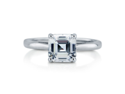 Asscher Cut Cubic Zirconia 925 Sterling Silver Solitaire Ring 1.96 Ct Women's Jewelry