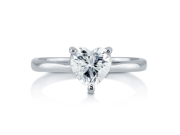 Heart Cut Cubic Zirconia CZ 925 Sterling Silver Solitaire Ring 1.13 Ct Women's Jewelry