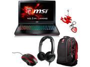 "MSI GE62 Apache Pro-001 15.6"" Gaming Laptop - Intel Core i7 6700HQ (2.60 GHz), 16 GB Memory,1 TB HDD, 128 GB SSD, GeForce GTX 970M 3 GB GDDR5 + Gaming Bundle"
