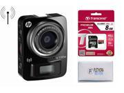 HP Mini WiFi Life Cam + 8GB Micro SD Card, 8MP Action Camera with Ultra HD Lens Full 1080p and 4K Time Lapse HPD-LC100WB-VPH