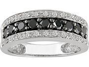 14k Gold 3/4ct TDW Black and White Diamond Ring (H-I-J, I1-I2)