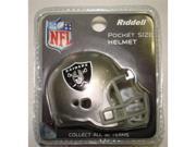 Creative Sports RPR-RAIDERS Oakland Raiders Riddell Revolution Pocket Pro Football Helmet