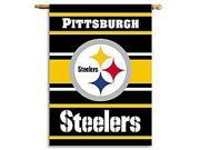Fremont Die- Inc. 94813B 2-Sided 28 X 40 House Banner - Pittsburgh Steelers