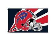 Fremont Die- Inc. 94223B 3 Ft. X 5 Ft. Flag W/Grommetts - Buffalo Bills