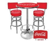 Ultimate Coca-Cola Gameroom Combo - 2 Stools with Back & Table