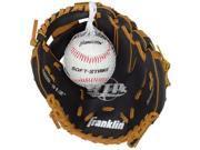 Franklin Sports Tan Black Tee Ball Glove Ball 4809TBS