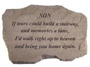 Kay Berry- Inc. 99720 Son-If Tears Could Build A Stairway - Memorial - 16 Inches x 10.5 Inches x 1.5 Inches
