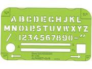 Alvin&Co 135R Alphabet Template