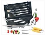 Chefmaster 18pc All Stainless Barbecue Set  KTBQSS18