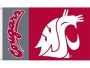 Bsi Products 95052 3 Ft. X 5 Ft. Flag W/Grommets - Washington State Cougars 9SIA17P43Z9367