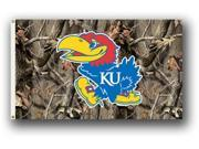 Bsi Products 95414 3 Ft. X 5 Ft. Flag W/Grommets - Realtree Camo Background - Kansas Jayhawks 9SIA00Y0978494