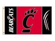 Bsi Products 95140 3 Ft. X 5 Ft. Flag W/Grommets - Cincinnati Bearcats 9SIA17P0CZ4739