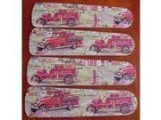 Ceiling Fan Designers 42SET-KIDS-KRFT Fire Trucks 42 in. Ceiling Fan Blades Only