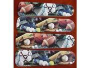 Image of Ceiling Fan Designers 42SET-KIDS-SFBS Soccer Football Baseball Sports 42 in. Ceiling Fan Blades Only