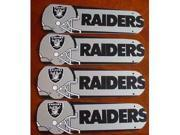 Ceiling Fan Designers 42SET-NFL-OAK NFL Oakland Raiders Football 42 In. Ceiling Fan Blades Only
