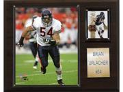 Brian Urlacher is celebrated on a 12 X 15 cherry wood plaque featuring a licensed 8X10 photo, one genuine licensed trading card of the player along with an engraved nameplate. Superior, high-clarity acrylic lens covers firmly affixed to the plaque with brass-type screws protect both the photo and trading card. The polished look makes for a well-crafted, long-lasting piece perfect for displaying in an office, recreation room, or any spot for a fan to enjoy. It is proudly produced and assembled in the USA. Licensed 8?x10? Brian Urlacher Photo. Officially Licensed Trading Card. 12 X 15 cherry wood plaque. Full lens covers to protect cards, pictures. Perfect for displaying in an office, rec room or bedroom.
