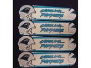 Ceiling Fan Designers 52SET-NFL-CAR NFL Carolina Panthers Football 52 In. Ceiling Fan Blades OnLY