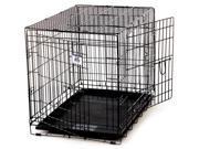 Miller Manufacturing Medium Black Double Door Wire Pet Crate  154659