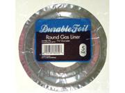 Durable Foil Durable Foil Round Gas Burner Liners D60050 - Pack of 12