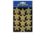 Throwing a Hollywood or Awards Night theme party? These Gold Prismatic Star Stickers are perfect for making all of your guests feel like a star. Seal your party invitations with the Gold Prismatic Star Stickers and get your guests excited to attend. If you are planning a Hollywood theme wedding or birthday, decorate your card box with these Gold Prismatic Star Stickers to give off the sparkling effect. Each package includes 2 sheets. Each sheet contains 12 stickers. Size: 4-3/4 x 7-1/2.