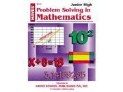 Hayes School Publishing Br157 Problem Solving In Mathematics Junior High- 36 Page 8.5   X 11   Workbook