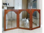 Majestic Pet 788995041139 Universal Free Standing Pet Gate Wire Insert and Cherry Stain