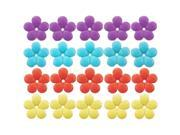 Songbird Essentials SE6009 Mixed Colors Replacement Flowers - red, purple, yellow, blue