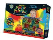 Melissa and Doug 5985 Scratch Magic Rainbow Finger Paint Kit - 3341
