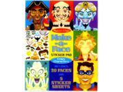 Melissa and Doug 4237 Make-a-Face Crazy Characters Sticker Pad