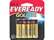 Eveready Aa Alkaline Battery Retail Pack - 4-Pack