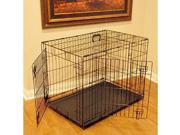 Majestic Pet 788995012429 42 in. Large Double Door Folding Dog Crate Cage