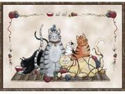 Custom Printed Rugs GRANNYSCATS Grannys Cats Rug