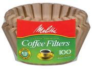 Melitta 629092 Natural Brown Basket Coffee Filters - 100 Package
