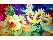 Custom Printed Rugs DM  39 Summer Sunflower Door Mat