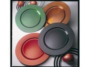 Ten Strawberry Street LAGR-24 13 in. Lacquer Plain Round Chargers Plate - Green - Pack of 4