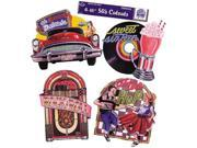 Costumes For All Occasions QA50 50S Cutouts Pack Of 4 16 Inch