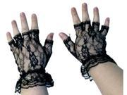 Costumes For All Occasions BA14 Gloves Black Fingerless 1 Size