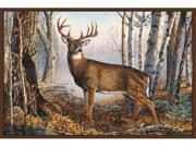 Custom Printed Rugs WHITETAIL Whitetail Wildlife Rug