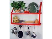 Rogar 8575 Double Bookshelf - Red/Chrome