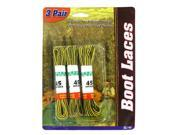 "Bulk Buys GL143-48 45"" Long x 1/16"" Wide Woven Polyester 3 Pair boot laces - Pack of 48"