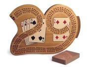 WWI 33529 3 Player 29 Cribbage Board in Wood 9SIA00Y0BX0142
