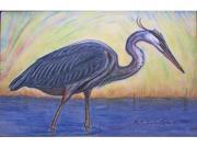 "Betsy Drake DM027 Great Blue Heron Door Mat 18""x26"""